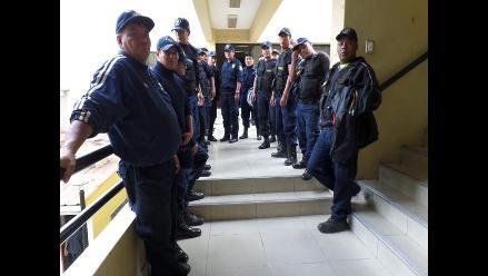 Huánuco: serenos protestan exigiendo el pago de sueldos