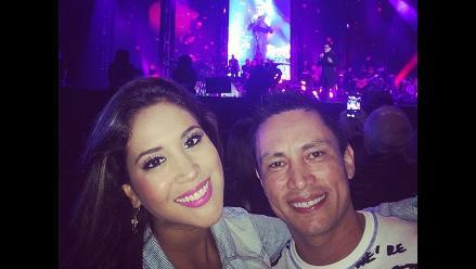 ¿Melissa Paredes le cantó a su ´ex´ durante concierto de Marc Anthony?