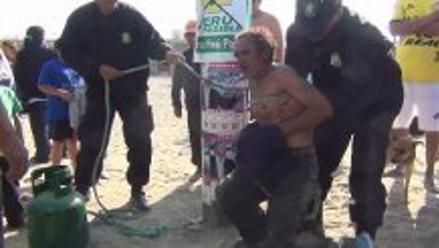 Nuevo Chimbote: sexagenario estuvo a punto de ser quemado por ladrón