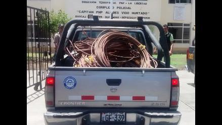 Trujillo: registran pérdidas de S/. 11 millones por hurto de cables