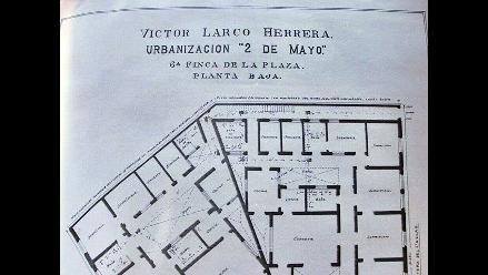 Mira el plano de 1924 del edificio que se quemó en la Plaza Dos de Mayo