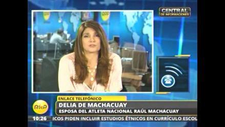 Esposa de Raúl Machacuay: Me siento feliz por el triunfo en Toronto