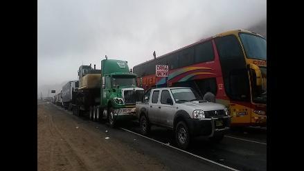 Pasco: complicaciones en el tránsito de la Carretera Central por lluvias