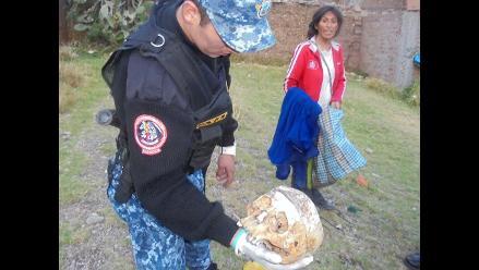 Huancayo: intervienen a mujer que deambulaba con cráneo humano en bolsa