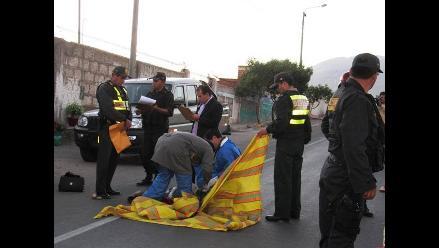 Arequipa: comerciante murió atropellado en el valle de Tambo