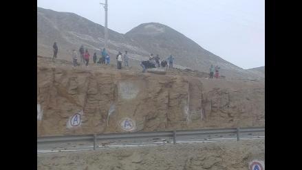 Huacho: destinan comitiva del Ministerio de Transportes tras bloqueo