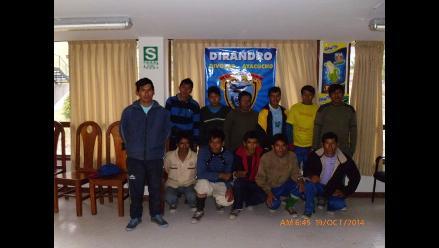 Ayacucho: capturan a 12 mochileros con más de 120 kilos de droga
