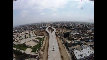 Trujillo: construcción del by pass del óvalo Grau con 75% de avance