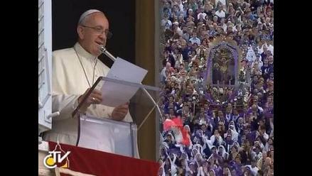Papa Francisco bendijo al Señor de los Milagros en Roma