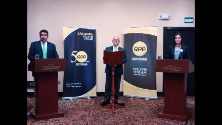 Siga en vivo el debate de los candidatos de Arequipa