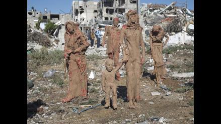 El arte despierta en la Franja de Gaza entre la pobreza y destrucción