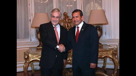 Ollanta Humala recibió a Sebastián Piñera en Palacio de Gobierno