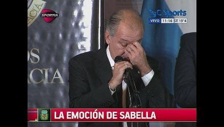 Alejandro Sabella lloró al recordar campaña de Argentina en Brasil 2014