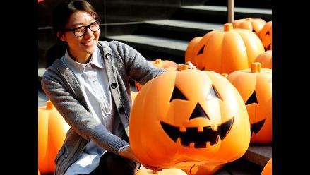 China se prepara para celebrar Halloween con 500 calabazas gigantes