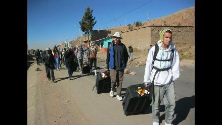 La Libertad: más de 50 pasajeros varados en Quiruvilca exigen sanciones