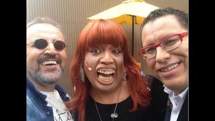 Magaly Medina junto a Beto, Phillip y ´Mascaly´