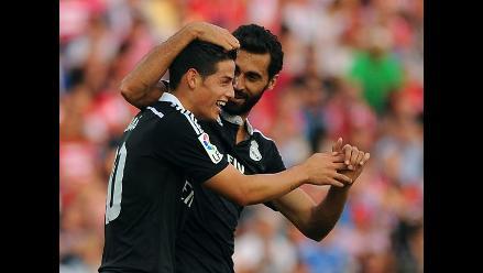 Real Madrid goleó 4-0 a Granada con doblete de James Rodríguez