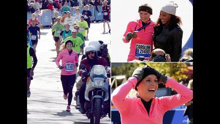 Caroline Wozniacki corrió la Maratón de Nueva York con un buen tiempo