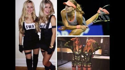 Bella tenista Genie Bouchard y su melliza alborotan redes con sexys fotos