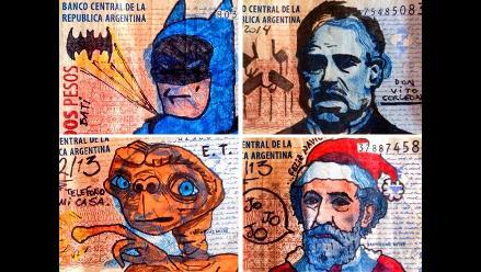 Billetes decorados por artista causan sensación en redes sociales