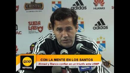 Daniel Ahmed: Nuestro objetivo hoy no es Alianza Lima, es San Martín