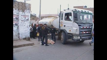 Chincha: profesora muere al ser atropellada por camión cisterna