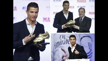 Revive en imágenes la entrega de la Bota de Oro a Cristiano Ronaldo