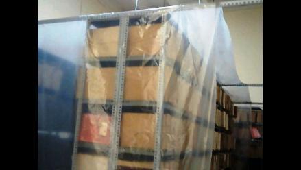 Trujillo: cubren archivos históricos con plástico por eventuales lluvias