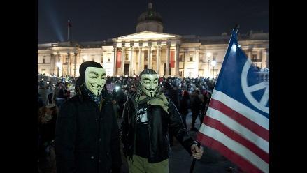 Anonymous toma calles de Londres con Marcha del Millón de Máscaras