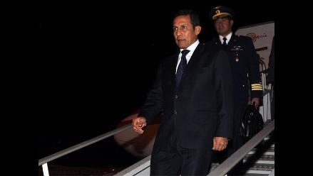 Presidente Humala partió en gira de trabajo a El Vaticano, Rusia y China