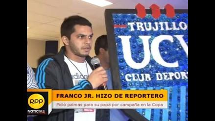 Hijo de Franco Navarro fungió de periodista y pide aplausos para su padre