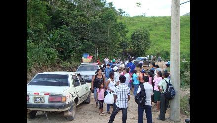 Moyobamba: pasajeros se quejan por mal estado de carretera Calzada-Soritor