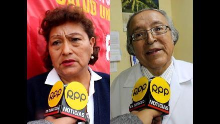 Huancayo: trabajadores asistenciales en huelga saludan salida de ministra