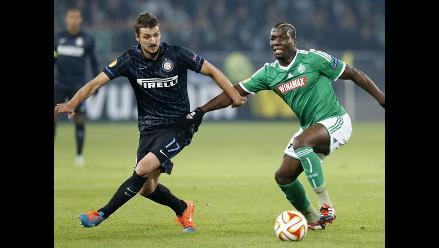 Inter de Milán empató 1-1 con Saint Etienne por grupo F de Europa League