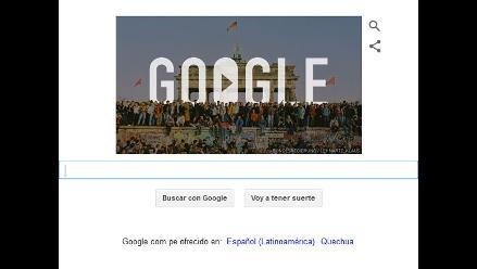 Google recuerda la caída del Muro de Berlín