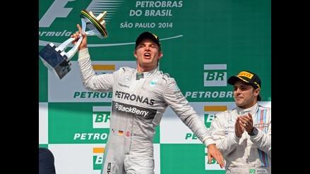 Fórmula Uno: Nico Rosberg gana el GP de Brasil y todo se resolverá en Abu Dhabi