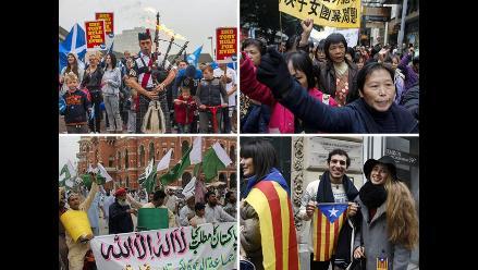 Quince regiones que aspiran a que se reconozca su independencia