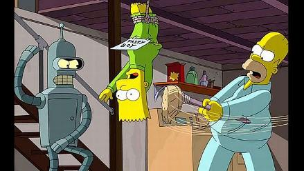 Simpsons y Futurama: mira la intro del esperado crossover