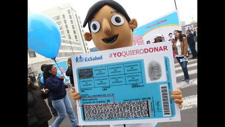 Cien mil peruanos han firmado consentimiento para donación de órganos
