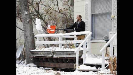 Tormenta de nieve azotó ciudades de Minnesota en Estados Unidos