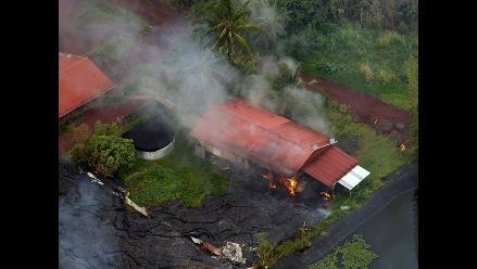 EEUU: lava del volcán Kilauea alcanza la primera casa en Hawai