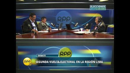 Candidatos a la Región Lima hablan sobre descentralización
