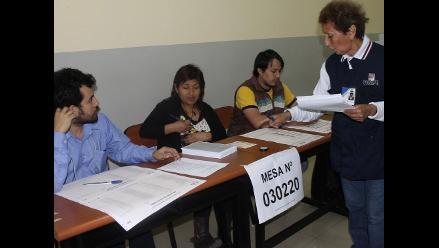 Miembros de mesa del 5 de octubre repetirán en segunda vuelta regional