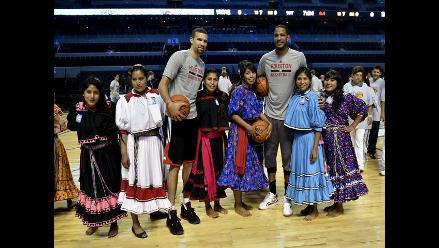 Mujeres indígenas mexicanas jugaron básquet con estrellas de la NBA