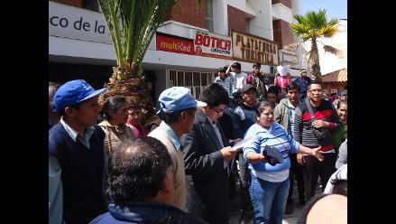 Concepción: mototaxistas protestan contra municipalidad