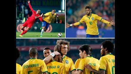 Turquía vs. Brasil: Las mejores imágenes de la goleada del