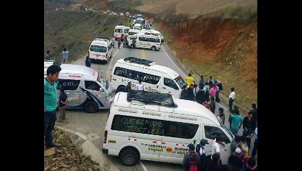 Otuzco: transportistas protestan contra suspensión con bloqueo de vías