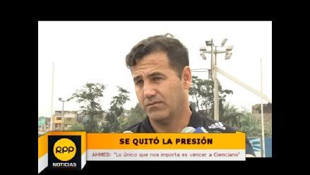 Daniel Ahmed: Nosotros no tenemos presión, vamos partido a partido