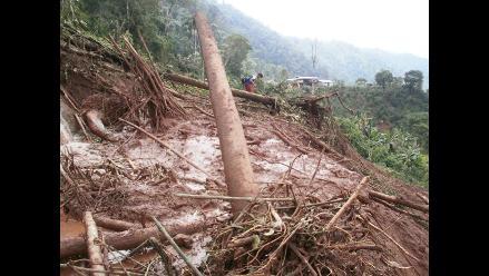 Moyobamba: huaicos nuevamente bloquean la vía Fernando Belaunde Terry