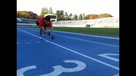 Guinness: japonés bate el récord de los 100 metros lisos a cuatro patas